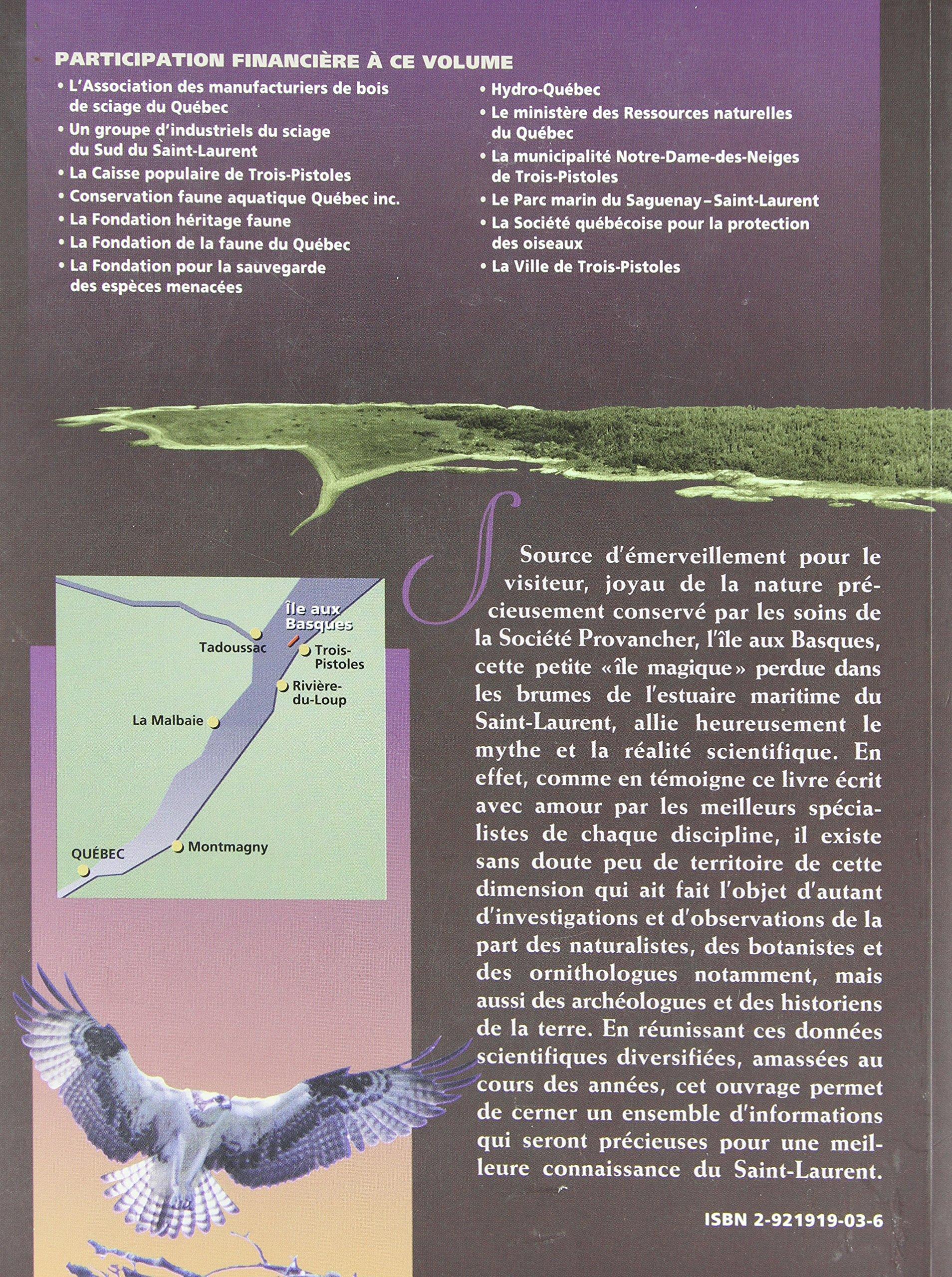 Une page du livre de L'Île aux Basques de la Société Provencher d'histoire naturelle du Canada