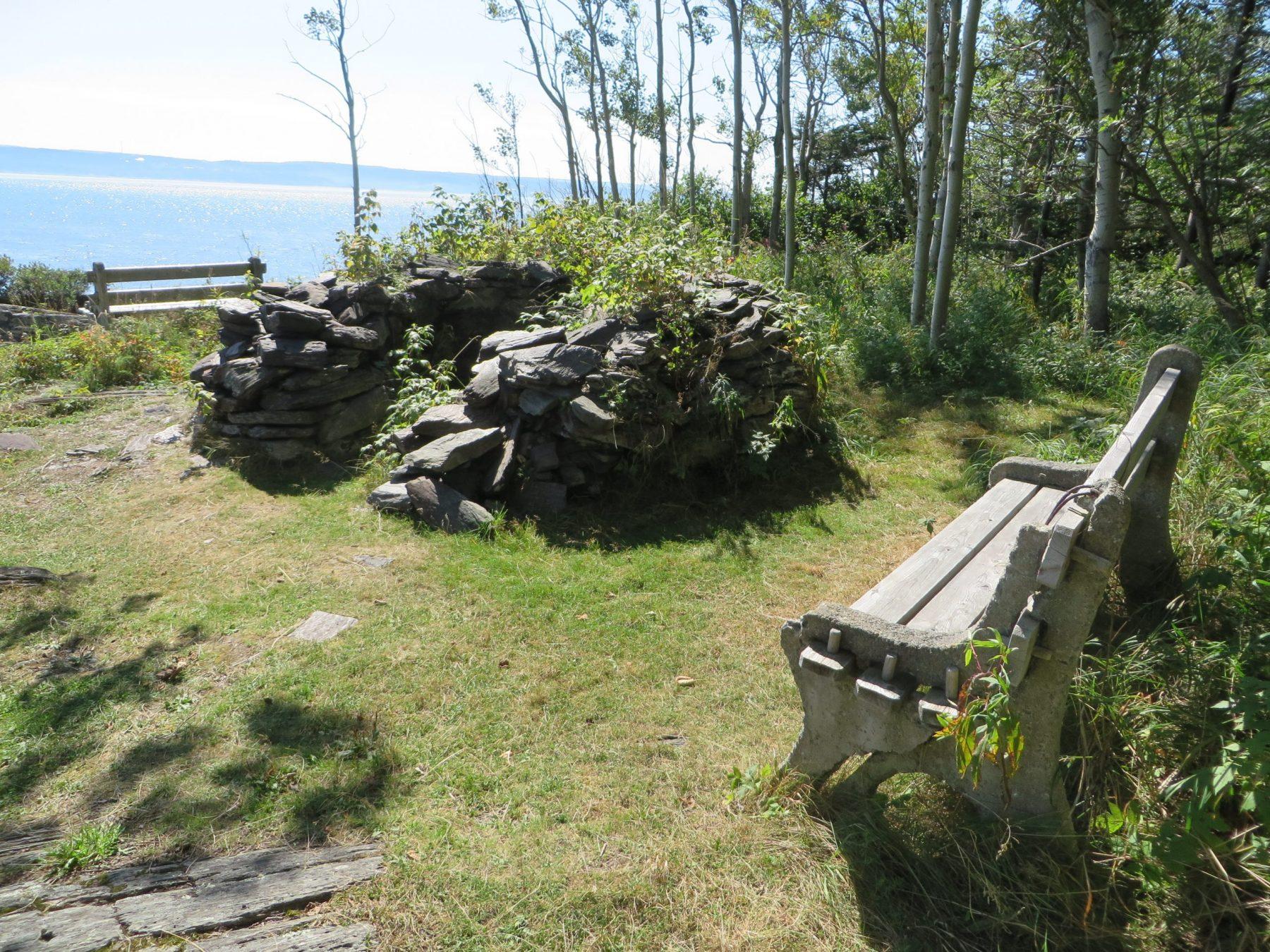 Four basque au parc naturel et historique de l'île aux Basques, au mois de septembre 2016. On en compte 2 sur l'île. Ils ont été rénovés en 2019.