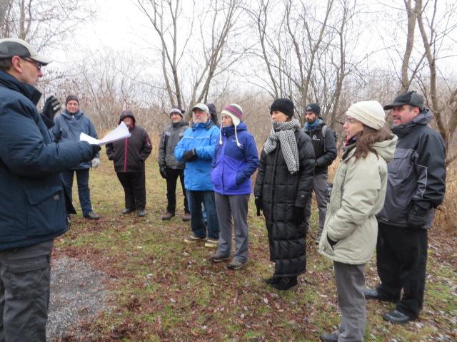 Les représentants de la Société Provancher ont présenté les aménagements le long de la digue et de certains sentiers (Photo: Réhaume Courtois)