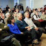 80 membres de la Société Provancher et du Club des ornithologues de Québec ont assisté à la conférence de M. Jean-François Rail, M. Sc., biologiste marin au Service canadien de la faune d'Environnement Canada le 20 avril 2017