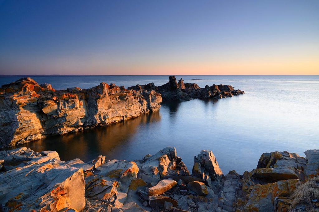 Rochers de l'île aux Basques. Photo: Yvan Bédard.