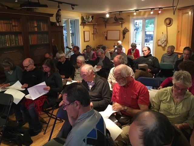 Assemblée générale annuelle de la Société Provancher, le 28 mai 2018. Photo : Jean Tremblay.