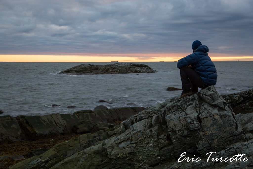 Lever du soleil à l'Île aux Basques. Crédit photo: Éric Turcotte