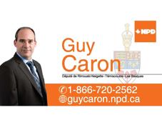 Guy Caron, député fédéral de Rimouski-Neigette-Temiscouata-Les Basques
