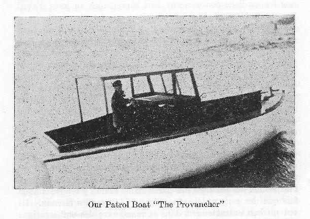 Le Provancher, bateau de Charles Morency (Rapport annuel de la Société Provancher, 1937)