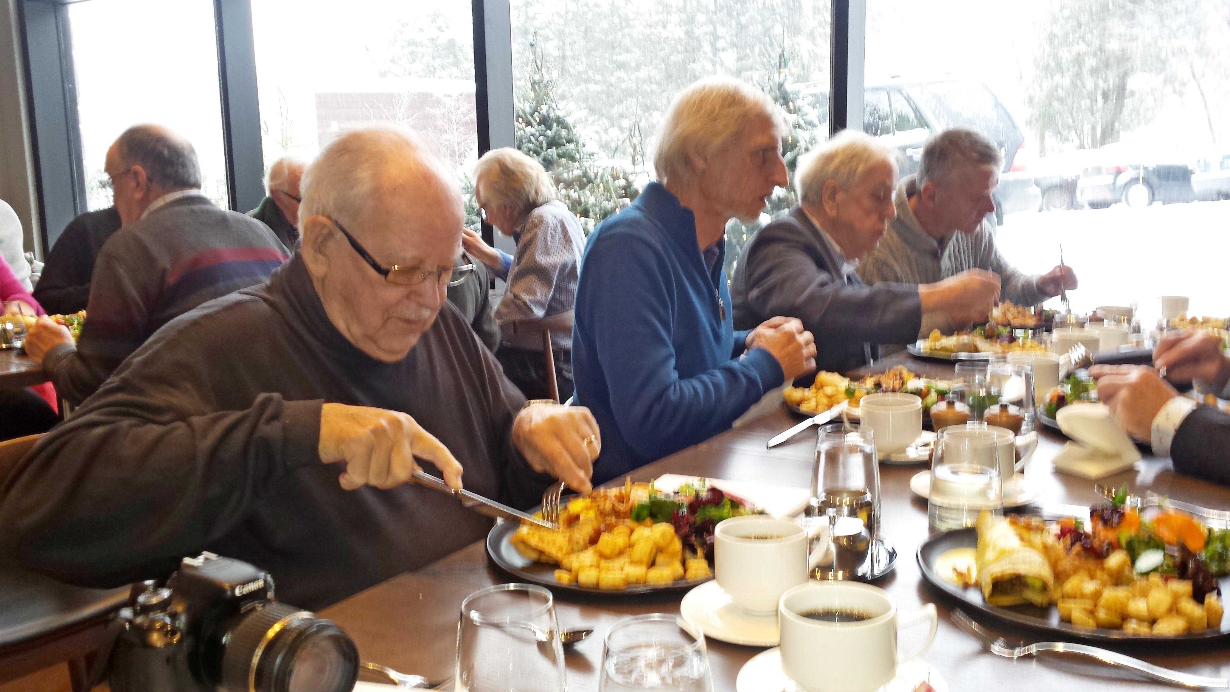 Déjeuner des anciens administrateurs de la Société Provancher. Photo: Pascale Forget.