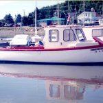 Le Fleur de mai, mon premier bateau, prêt pour la traversée à l'île au Basques. Photo Jean-Pierre Rioux
