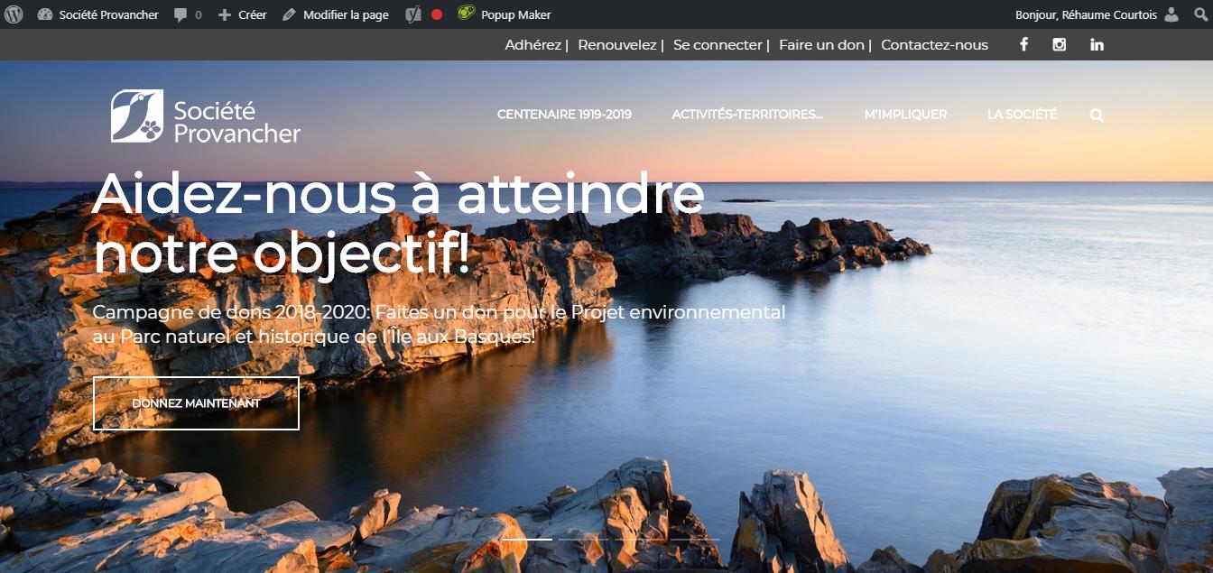 Site Web de la Société Provancher