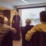 Mot du président, Daniel St-Onge, lors de la soirée-reconnaissance des bénévoles 2020. La Société Provancher a accueilli 60 bénévoles au restaurant Le Piolet, Loretteville, le 20 février 2020. Photo : Nathalie Thivierge.