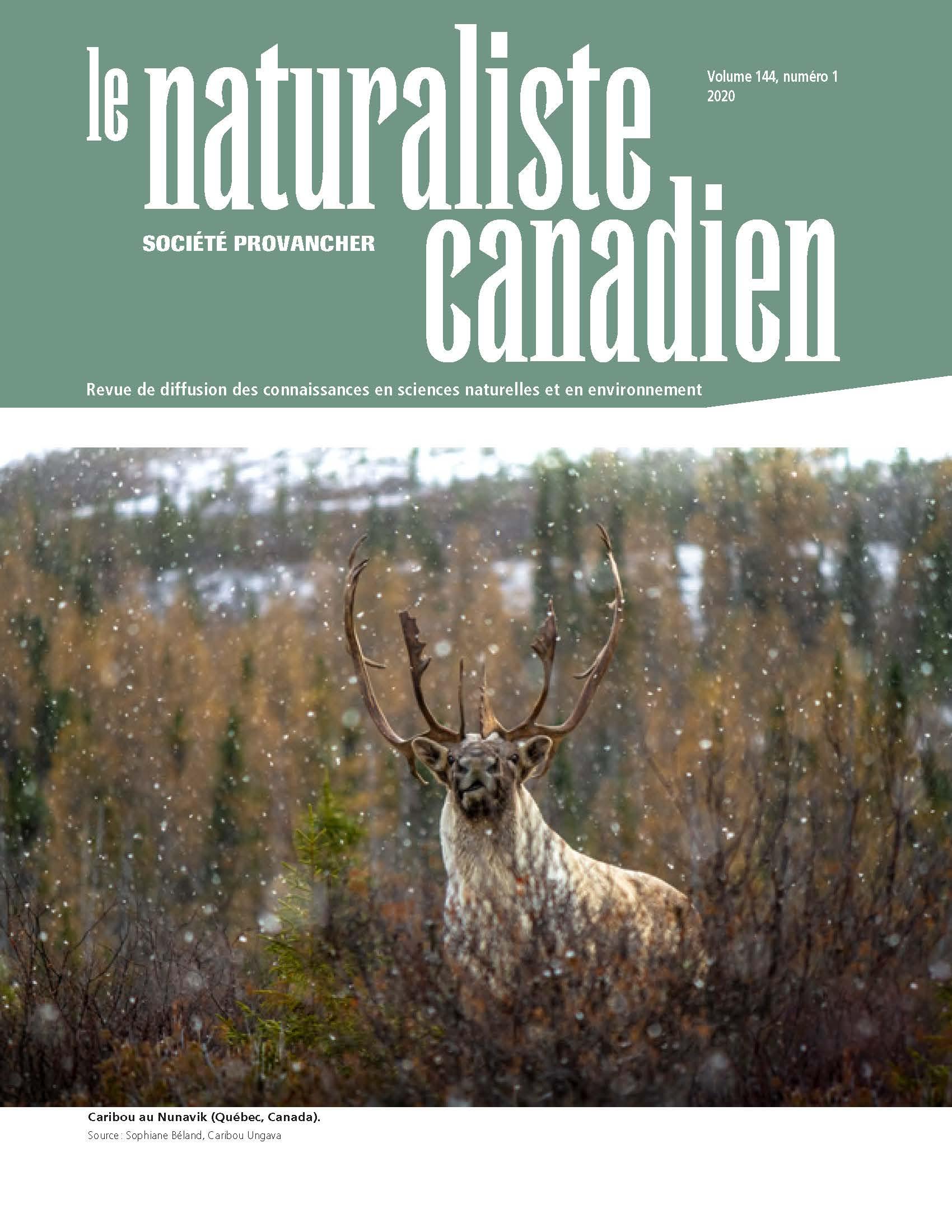 Naturaliste Canadien 145 (1) P2 2020