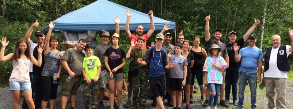 Jeunes chasseurs de sauvagine en fin d'apprentissage : la jeune relève!