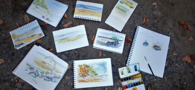 Atelier d'aquarelle de Joanne Ouellet en bref