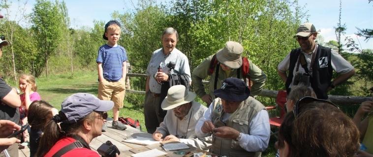 Baguage des oiseaux 2017 à la Réserve naturelle du Marais-Léon-Provancher