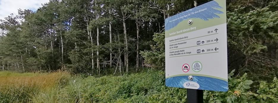 Nouvelle signalisation à l'île aux Basques
