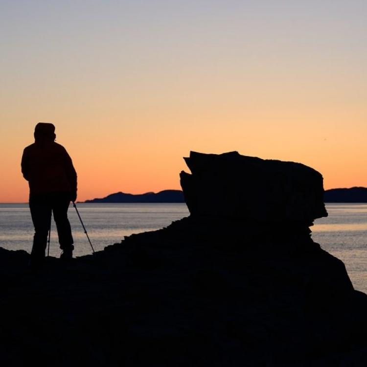 Coucher de soleil du Parc naturel et historique de l'Île aux Basques (Photo: yvanbedardphotonature.com)