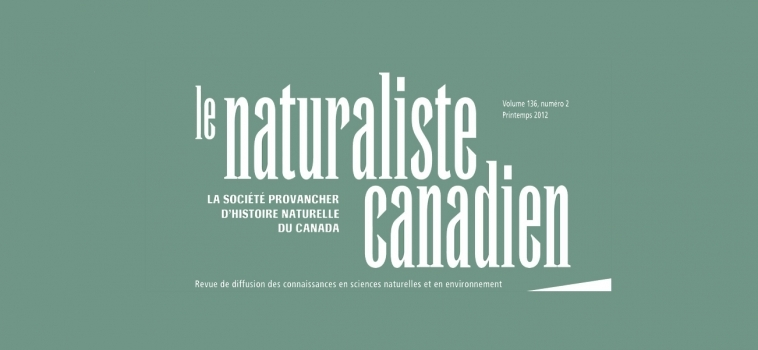 Le Naturaliste canadien en format électronique