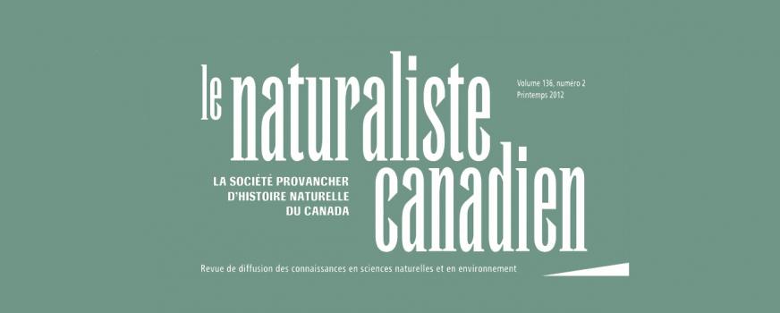 Le Naturaliste canadien en format électronique