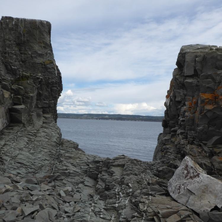 Trois-Pistoles vue du Parc naturel et historique de l'Île aux Basques au mois de Juin 2017 (Photo: Jean Tremblay)