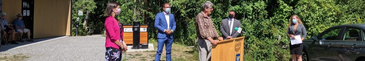 Inauguration du nouveau pavillon d'accueil à la réserve naturelle du Marais-Léon-Provancher