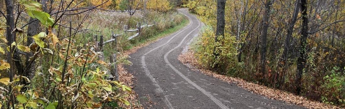 Un sentier aménagé pour les personnes à mobilité réduite