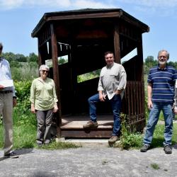 Visite de M. Vincent Caron à la réserve naturelle du Marais-Léon-Provancher