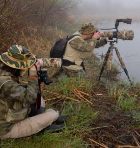 Photographes à la Réserve naturelle du Marais-Léon-Provancher (Photo: yvanbedardphotonature.com)