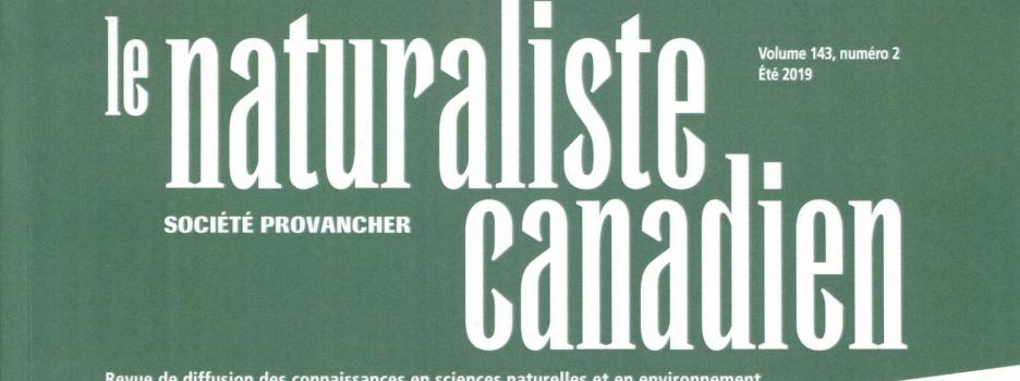Le numéro du printemps 2021 du Naturaliste canadien est disponible en ligne